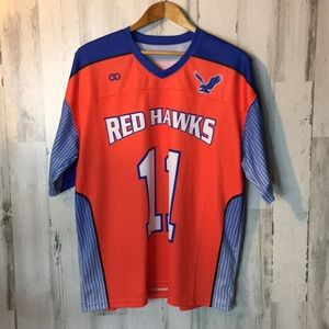 Youth 11 jersey red hawks orange